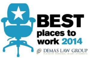 Demas Law Group Best Place to Work Award