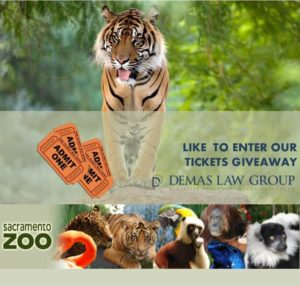 Sacramento Zoo Tickets from Demas Law Group