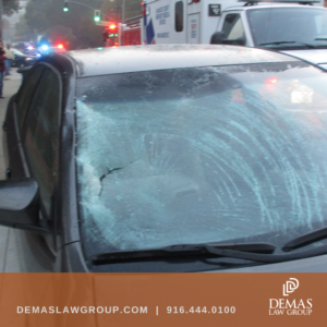 damage to windshield from pedestrian accident