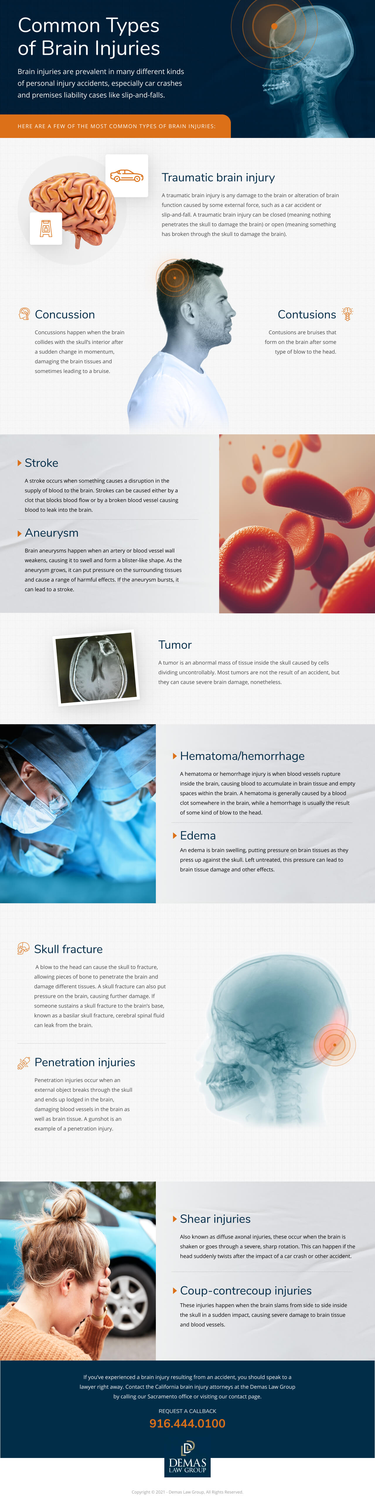 Common Types of Brain Injuries - Demas Law Group, P.C.